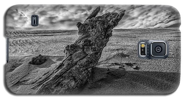 Galaxy S5 Case featuring the photograph The Sleeping Bear Dunes Black And White  by John McGraw