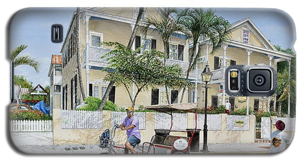 Galaxy S5 Case featuring the painting The Duval House, Key West, Florida by Bob George