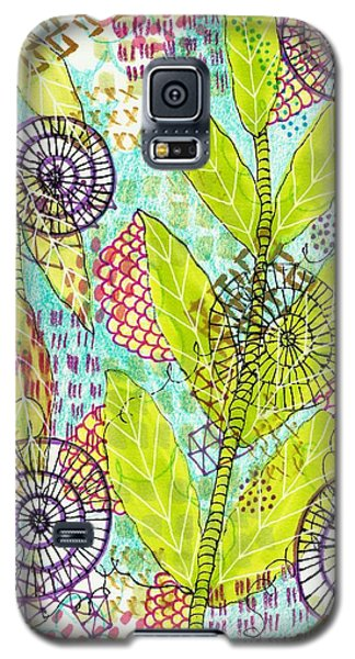 Galaxy S5 Case featuring the mixed media The Earth Dances by Lisa Noneman
