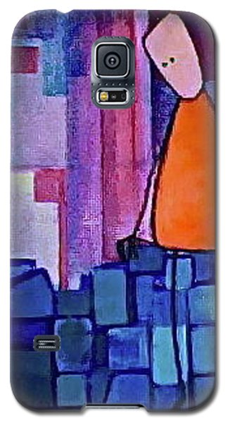 Galaxy S5 Case featuring the painting The Edge by Donna Howard