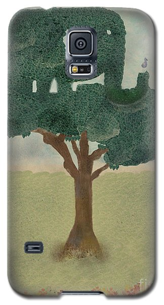 Galaxy S5 Case featuring the painting The Elephant Tree by Bri B