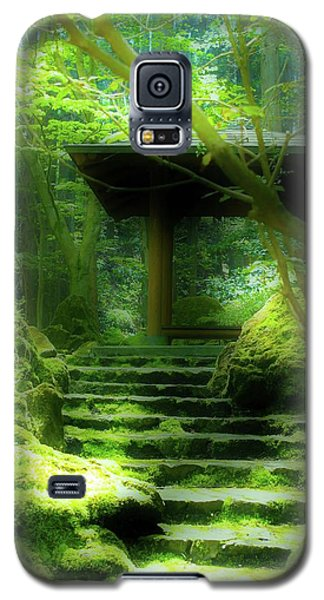 Galaxy S5 Case featuring the photograph The Emerald Stairs by Tim Ernst