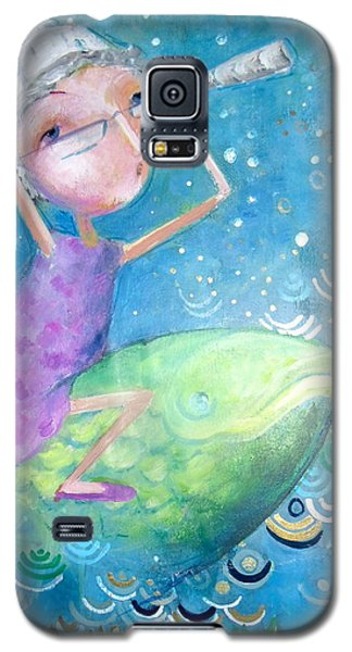 Galaxy S5 Case featuring the painting The Eternal Quest by Eleatta Diver