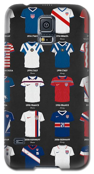 The Evolution Of The Us World Cup Soccer Jersey Galaxy S5 Case by Taylan Apukovska