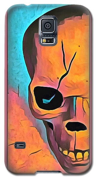 Galaxy S5 Case featuring the digital art The Eye Of Death Abstract Skull by Floyd Snyder