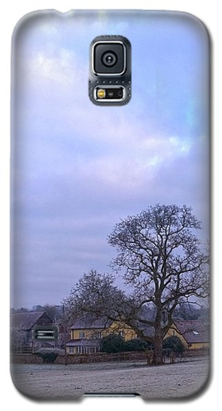 The Farm In Winter Galaxy S5 Case by Anne Kotan
