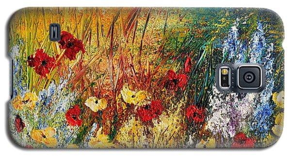 Galaxy S5 Case featuring the painting The Field by Teresa Wegrzyn