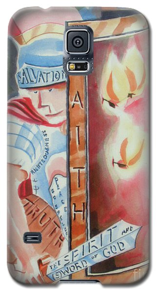 Galaxy S5 Case featuring the painting The Fiery Darts Of The Evil One 2 by Kip DeVore
