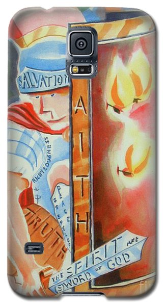 Galaxy S5 Case featuring the painting The Fiery Darts Of The Evil One 3 by Kip DeVore