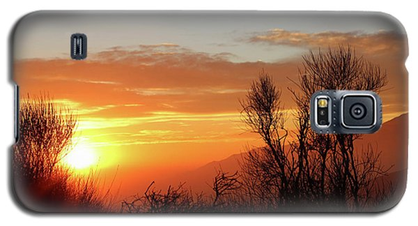 The Fire Of Sunset Galaxy S5 Case