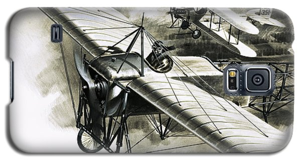The First Reconnaissance Flight By The Rfc Galaxy S5 Case by Wilf Hardy