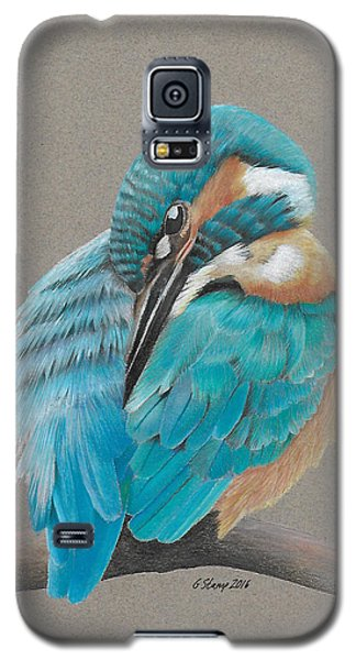 Galaxy S5 Case featuring the drawing The Fisherking by Gary Stamp
