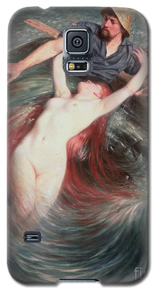 Mermaid Galaxy S5 Case - The Fisherman And The Siren by Knut Ekvall