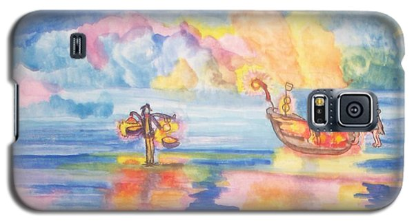 The Fishermen Come Home Galaxy S5 Case by Connie Valasco
