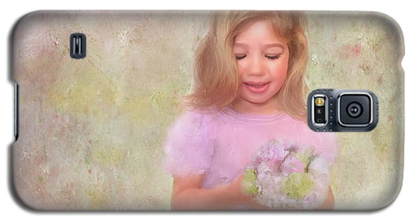 Galaxy S5 Case featuring the mixed media The Flower Princess by Colleen Taylor