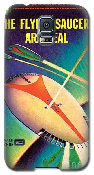 Galaxy S5 Case featuring the painting The Flying Saucers Are Real by Frank Tinsley