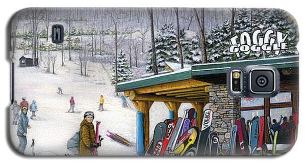 Galaxy S5 Case featuring the painting The Foggy Goggle At Seven Springs by Albert Puskaric