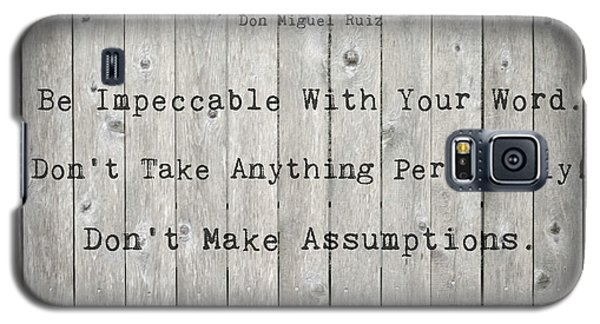 The Four Agreements 12 Galaxy S5 Case