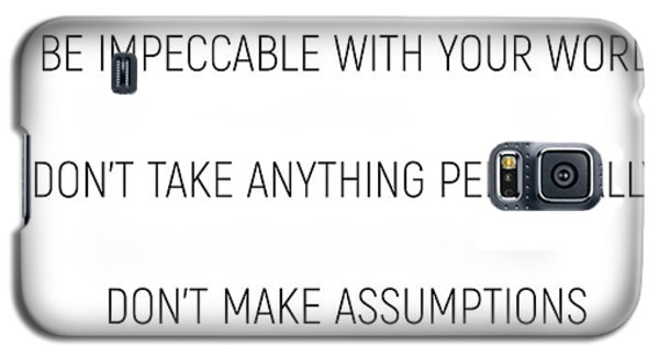 The Four Agreements #minismalism #shortversion Galaxy S5 Case