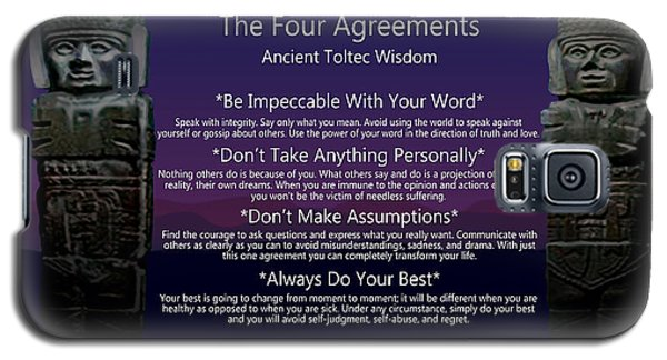 The Four Agreements Poster Galaxy S5 Case