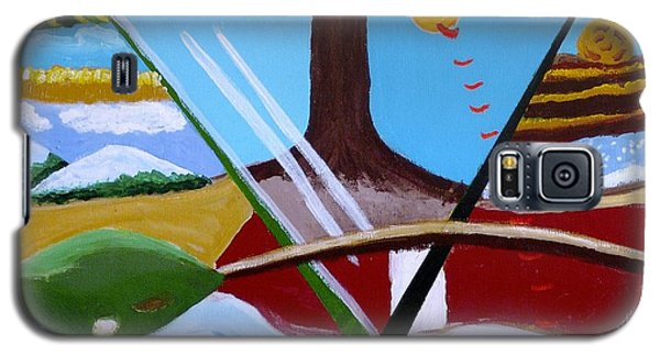 Galaxy S5 Case featuring the painting The Four Seasons by Rod Ismay