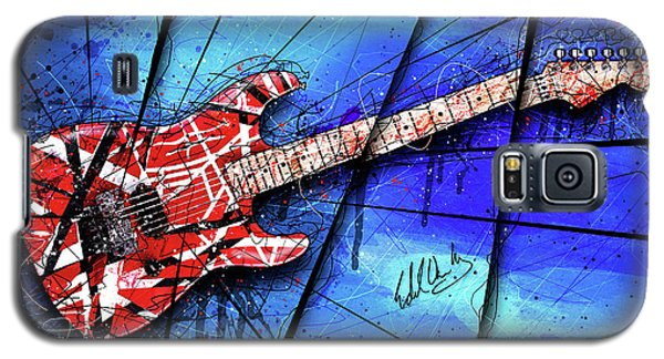 Van Halen Galaxy S5 Case - The Frankenstrat On Blue I by Gary Bodnar