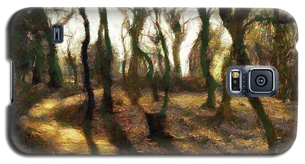 Galaxy S5 Case featuring the digital art The Frightening Forest by Gun Legler