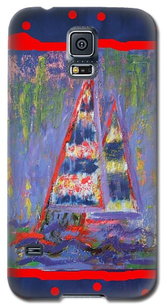 Galaxy S5 Case featuring the painting The Fun Of Sailing by Karin Eisermann