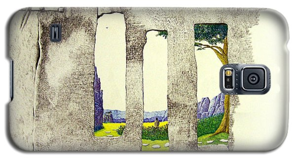 Galaxy S5 Case featuring the painting The Garden by A  Robert Malcom