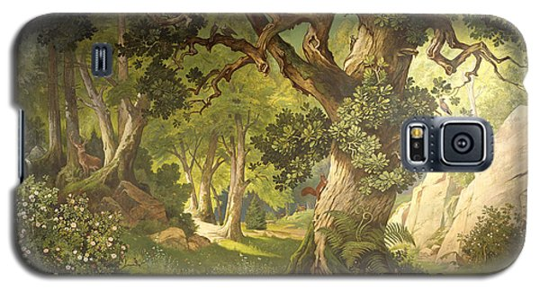 The Garden Of The Magician Klingsor, From The Parzival Cycle, Great Music Room Galaxy S5 Case by Christian Jank