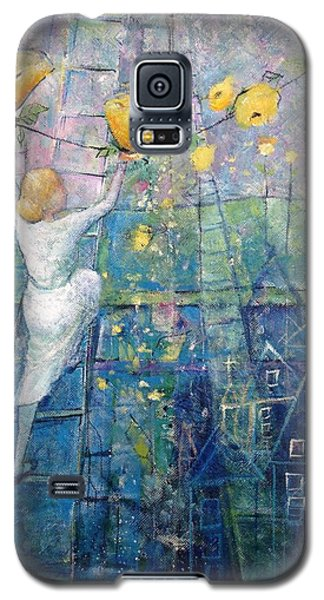 Galaxy S5 Case featuring the painting The Garden Party by Eleatta Diver