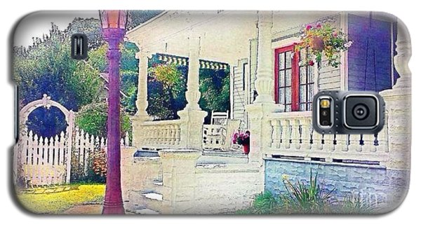 The Gate Porch And The Lamp Post Galaxy S5 Case by Becky Lupe