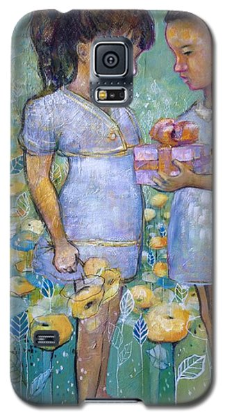 Galaxy S5 Case featuring the painting The Gift by Eleatta Diver
