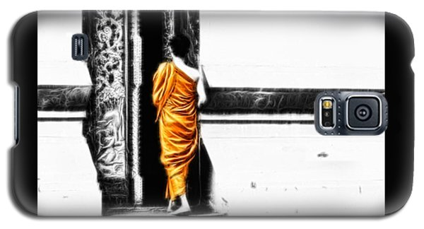 Galaxy S5 Case featuring the photograph The Gilded Monk by Cameron Wood