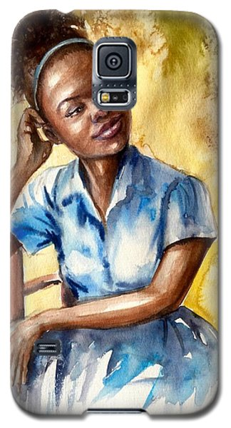 The Girl With The Blue Dress Galaxy S5 Case