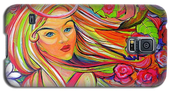 The Girl With The Flowers In Her Hair Galaxy S5 Case