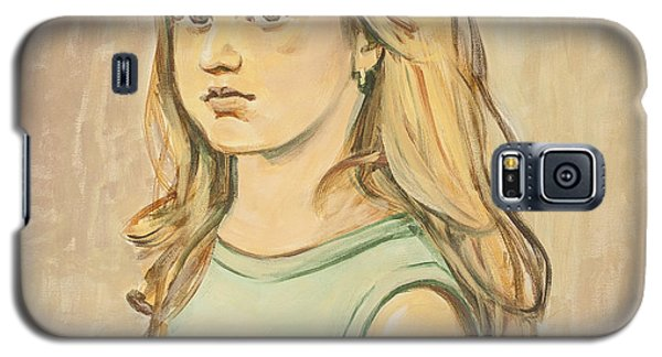 Galaxy S5 Case featuring the painting The Girl With The Golden Hair by Olimpia - Hinamatsuri Barbu