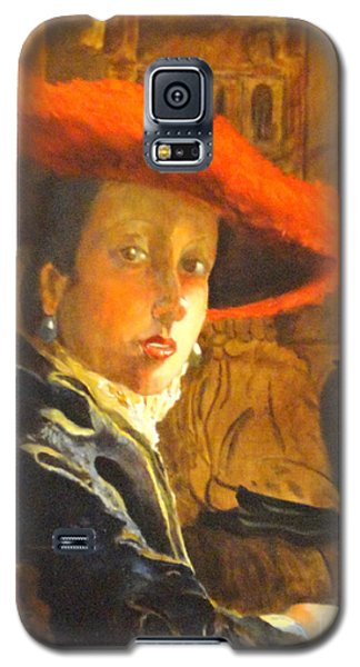The Girl With The Red Hat After Jan Vermeer Galaxy S5 Case