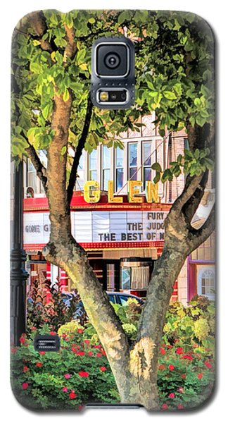 Galaxy S5 Case featuring the painting The Glen Movie Theater by Christopher Arndt