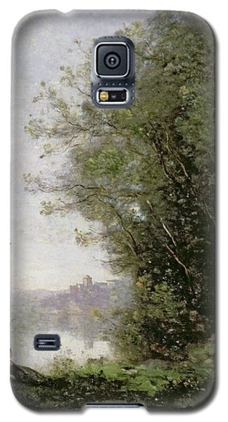 The Goatherd Beside The Water  Galaxy S5 Case by Jean Baptiste Camille Corot