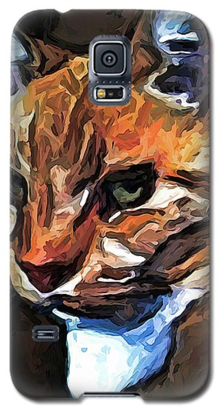 The Gold Cat With The Stage Presence Galaxy S5 Case