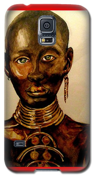 Galaxy S5 Case featuring the painting The Golden Black by Yolanda Rodriguez