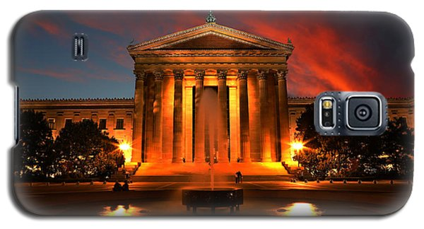 The Golden Columns - Philadelphia Museum Of Art - Sunset Galaxy S5 Case