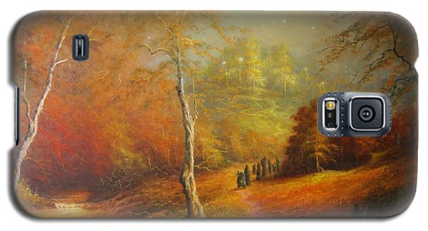 Golden Forest Of The Elves Galaxy S5 Case