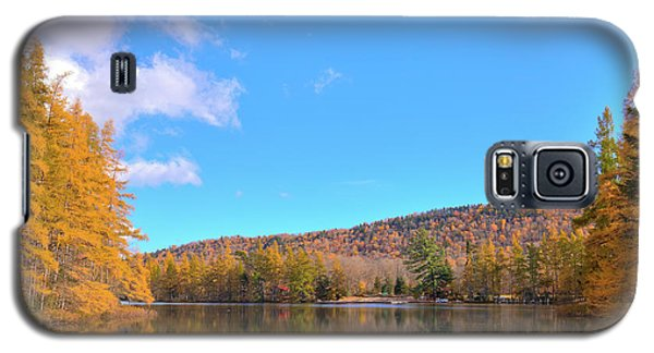 Galaxy S5 Case featuring the photograph The Golden Tamaracks Of Woodcraft Camp by David Patterson