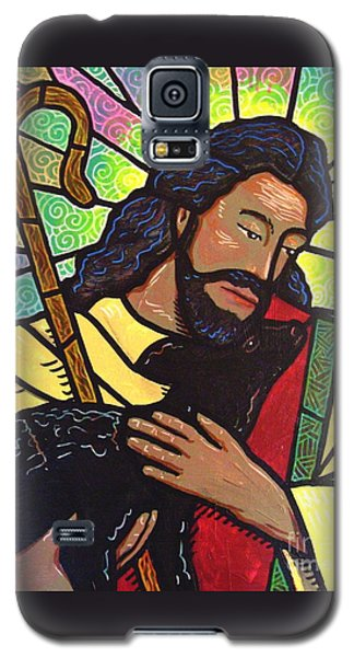 Galaxy S5 Case featuring the painting The Good Shepherd - Practice Painting Two by Jim Harris
