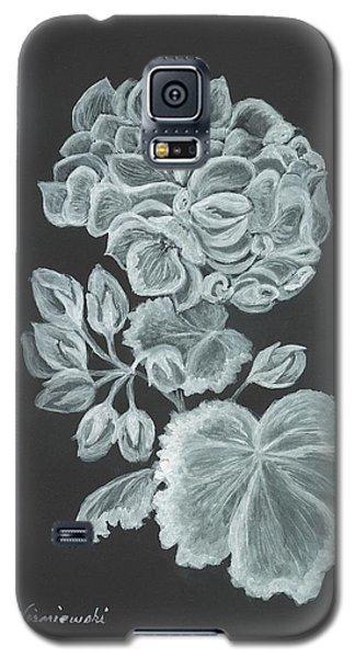 Galaxy S5 Case featuring the painting The Gossamer Geranium by Carol Wisniewski