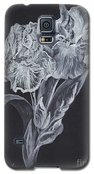 Galaxy S5 Case featuring the painting The Gossamer Iris by Carol Wisniewski