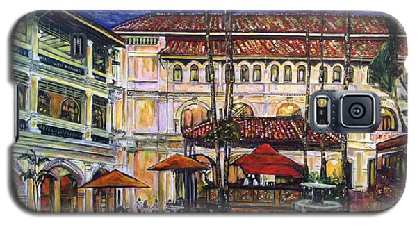 The Grand Dame's Courtyard Cafe  Galaxy S5 Case by Belinda Low