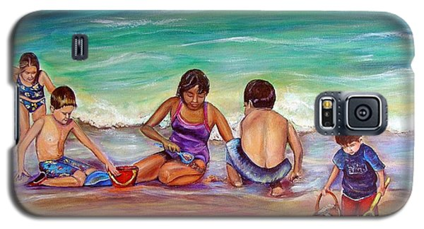 Galaxy S5 Case featuring the painting The Grands by Patricia Piffath